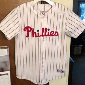AUTHENTIC PHILLIES Lieberthal baseball jersey